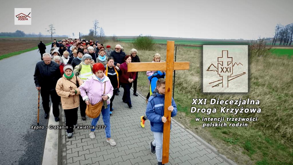 XXI Diecezjalna Droga Krzyżowa w intencji trzeźwości polskich rodzin (Kępno-Grębanin)